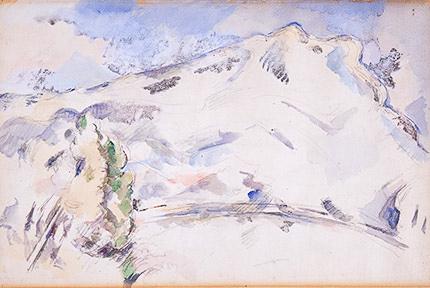הנושא של הר סנט ויקטואר העסיק את סזאן החל משנות השישים של המאה ה- 19 ועד מותו. הוא חקר את מבנה ההר ושאף לתאר את מבני היסוד ההנדסיים של ההר. בתהליך המחקרי הוא וויתר על פרטים, צמצמם את צבעיו לכחולים וירוקים, צבעים קרים נטולי רגש. הוא וויתר על המרקם והעומק. הכל לטובת הצורה. זהבה גרציאני, בעלת הבלוג: גולדן טיימס, מנהלת עם סזאן שיחות בוקר אודות רצונם המשותף לשלוט בטבע ומגיעה למסקנה שהטבע, כמו החיים, הם דינמי ובלתי ניתן לשליטה.